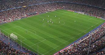 สนามผลบอลทีมบาเซโลน่า